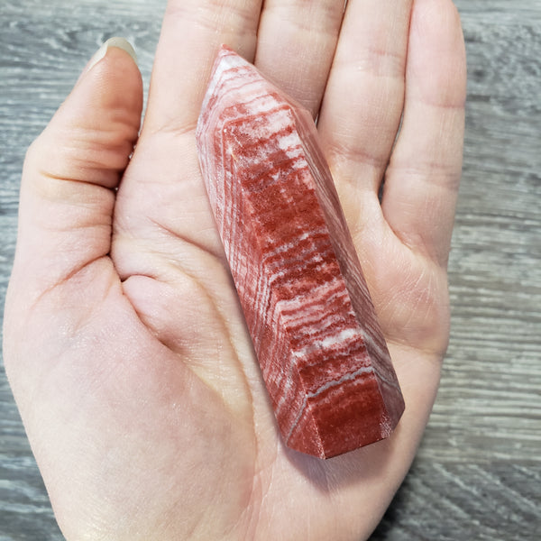 Rainbow Calcite Point (12d) - essentialchijewelry