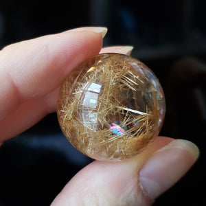 Rutilated Quartz Sphere 21a - essentialchijewelry