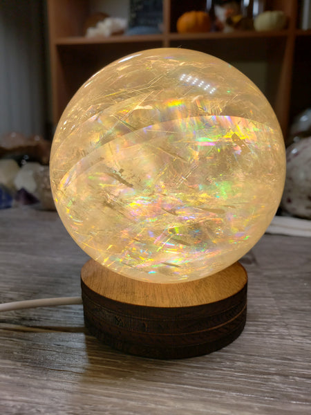 Crystal Light Base Sphere Stand - essentialchijewelry