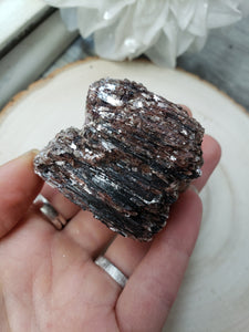 Raw Black Tourmaline with Mica 1g - essentialchijewelry