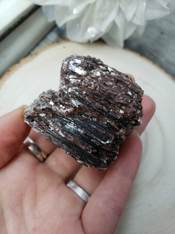 Raw Black Tourmaline with Mica 1g