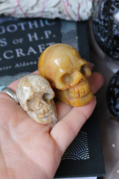 Medium Agate Skull - essentialchijewelry