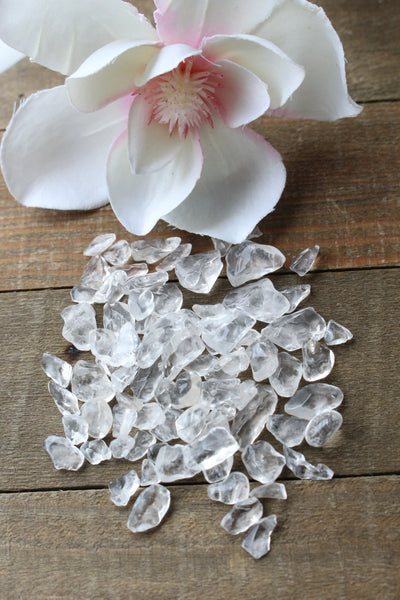 Clear Quartz Crystal Chips - essentialchijewelry