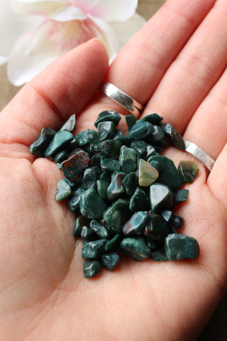 Bloodstone Crystal Chips - essentialchijewelry