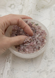 Strawberry Quartz Crystal Chips