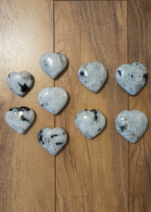 Rainbow Moonstone Heart Palmstone