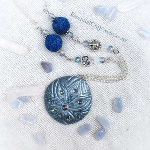 Tiamat Sand Dollar Diffuser Necklace - essentialchijewelry