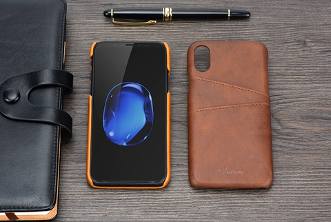 Luxury Leather Wallet Case For iPhone XS Max XR  iPhone XS Max X 8 7 6S 6 Plus