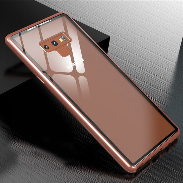 Magnetic King Note9 Metal Glass Phone Case - MY CASE