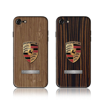Wood Grain Car Phone Case Porsche - MY CASE