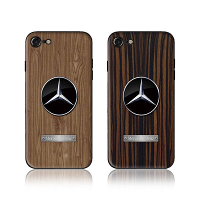 Wood Grain Car Phone Case Mercedes - MY CASE