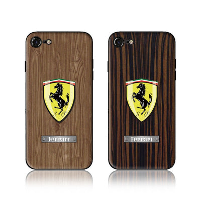Wood Grain Car Phone Case Ferrari - MY CASE