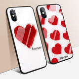 Heart Forever - Glass Phone Cases For iPhone - MY CASE