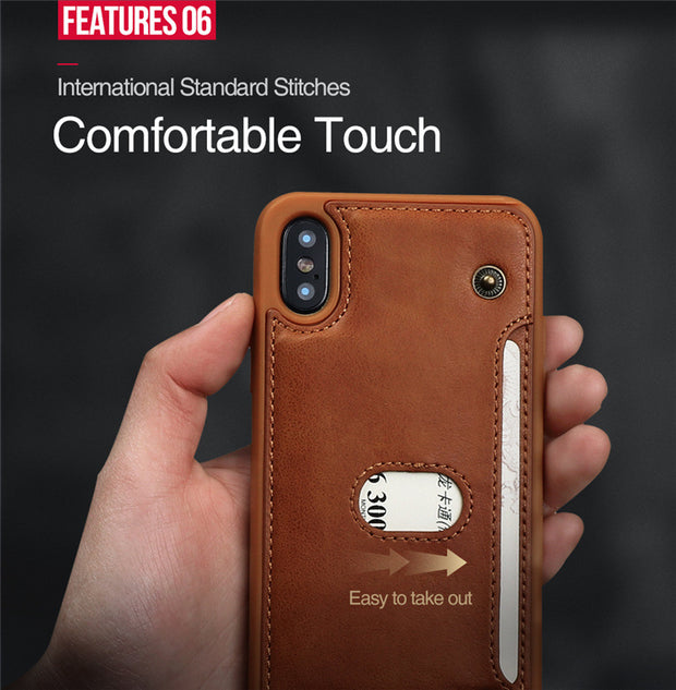 Double Buckle Stick Card Mobile Phone Shell - MY CASE