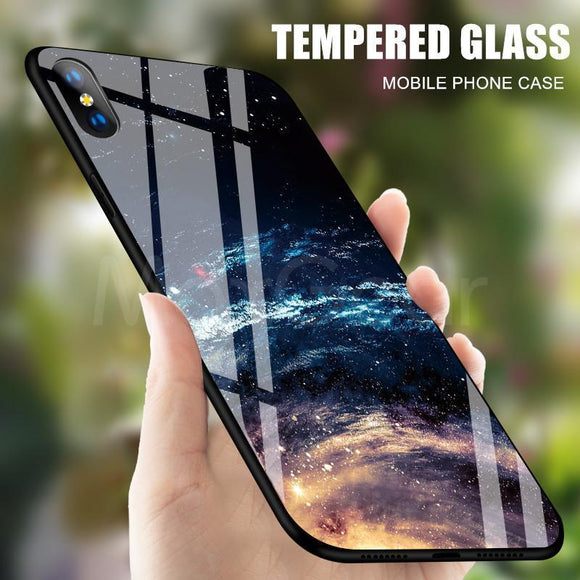 Space Tempered Glass Case For iPhone - MY CASE