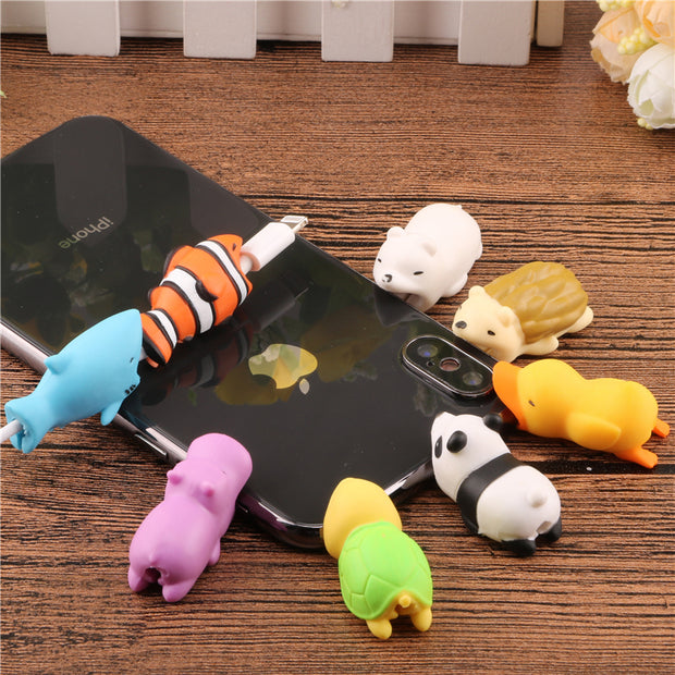 Cute Animal doll Cable bite protector for iphone usb - MY CASE