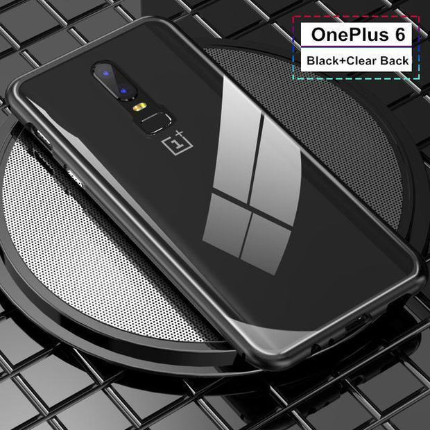 Magnetic Adsorption Flip Case For OnePlus6 - MY CASE