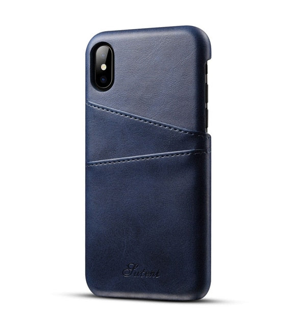 Luxury Leather Wallet Case For iPhone XS Max XR  iPhone XS Max X 8 7 6S 6 Plus - MY CASE