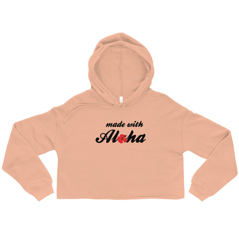 made with aloha crop hoodie