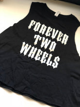 Load image into Gallery viewer, Forever Two Wheels Racerback Cropped Tank
