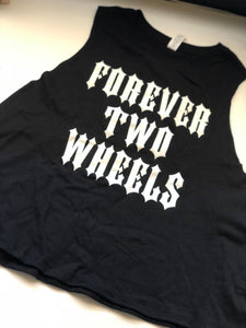 Forever Two Wheels Racerback Cropped Tank