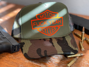 F Yeah Motorcycles Trucker Hat