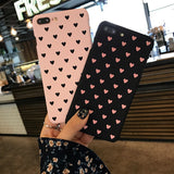 Heart Mobile Phone Case for iPhone 6 6s Plus 7 8 Plus 5 5s SE X XR XS Max Love Element Style Case for Girls Female Back Cover