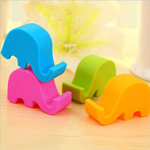 NEW Universal Mini Elephant Smart Phone Table Desk Mount Stand Phone Holder for Cell Mobile Phone Tablets Bracket Random Color