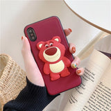 Cartoon silicone mobile phone case  Mobile phone wrapped in mobile phone cover half wrapped mobile phone case