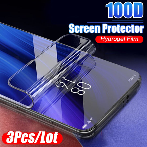 3Pcs 100D Protective Hydrogel Film For Xiaomi Redmi 4X 5A 5 Plus 6A 8 Pro 7A Pro Note 5 8 7 Pro Screen Protector Full Cover Film