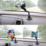 NEW Arrival Car Phone Holder Flexible 360 Degree Adjustable Car Mount Mobile Phone Holder For Smartphone 3.5-6 inch Support GPS