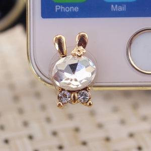 Mobile Phone Accessories Cute Rabbit Front 3.5mm Dustproof Plug Ear Plugs for Iphone for Huawei for Xiaomi