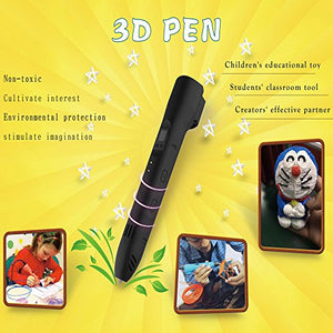 3D Pen,Newest 3D Printing Pen Compatible ABS PLA Filament, Supports Mobile Power (Black): Industrial & Scientific