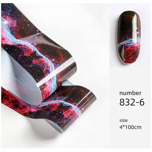HNUIX 10 colours Nail Art star transfer paper.