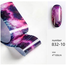 Load image into Gallery viewer, HNUIX 10 colours Nail Art star transfer paper.