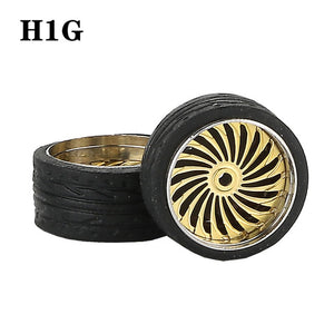 1:64 Custom Wheel w/ Rubber Tire Sets *38 Options!
