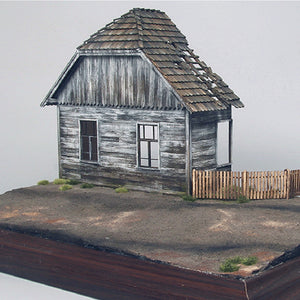 1/35 Wooden European House Diorama Battlefield Ruins Military Building Scenes Kit