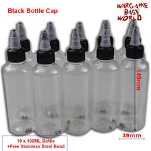 Load image into Gallery viewer, Black Bottle Cape - Model Paint Mixing Bottle Painting Storage Bottles with Mixing Stainless Steel Ball Hobby