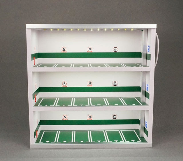 1:64 parking lot model display cabinet toy Car storage rack shelf box simulation garage show parking zone scene