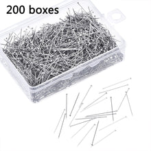 Load image into Gallery viewer, 200Pcs/Box Flat Head Pins 28mm