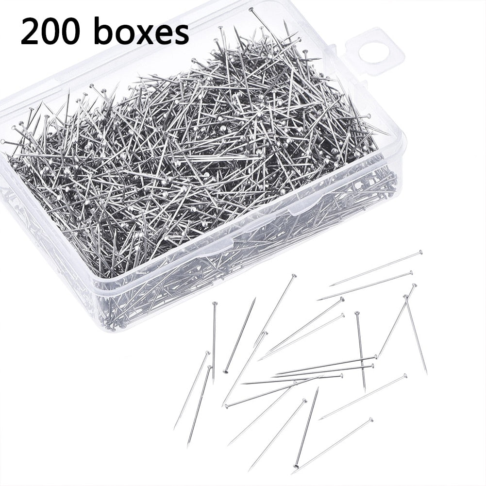 200Pcs/Box Flat Head Pins 28mm