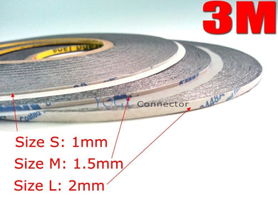 3M Black Double-Sided Adhesive Tape Width 1mm/1.5mm/2mm