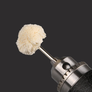 10pcs 2.35MM/3.0MM Diameter Woolen Polishing Wheel Buffing Pad Brush Set Dremel Rotary Power Tools