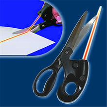 Load image into Gallery viewer, Laser Scissors: Red Laser Guided Craft Scissors