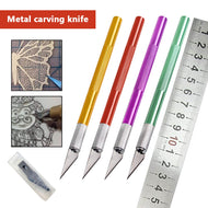 Hobby Knife Metal Handle with 5pcs Blades