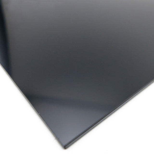 1Pc Durable Black ABS Styrene Plastic Flat Sheet 0.5mm Thickness 8