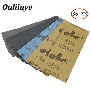 Lot 36PCS  400 to 3000 Wet Dry Sand Paper