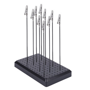 9 x 14 Holes Painting Stand Base with 10/20pcs Metal Alligator Clip Stick for gundam Model Building Tool Sets