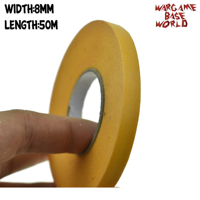 Yellow Mask Tape 50M - Paint Special  Model Special Masking Tape 8-50mm Model Hobby Painting Tools Accessory