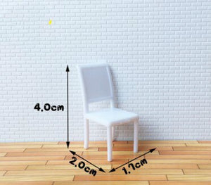 10pcs/lot  1:25 G Scale Model Building Dining Chairs for Miniature Furniture